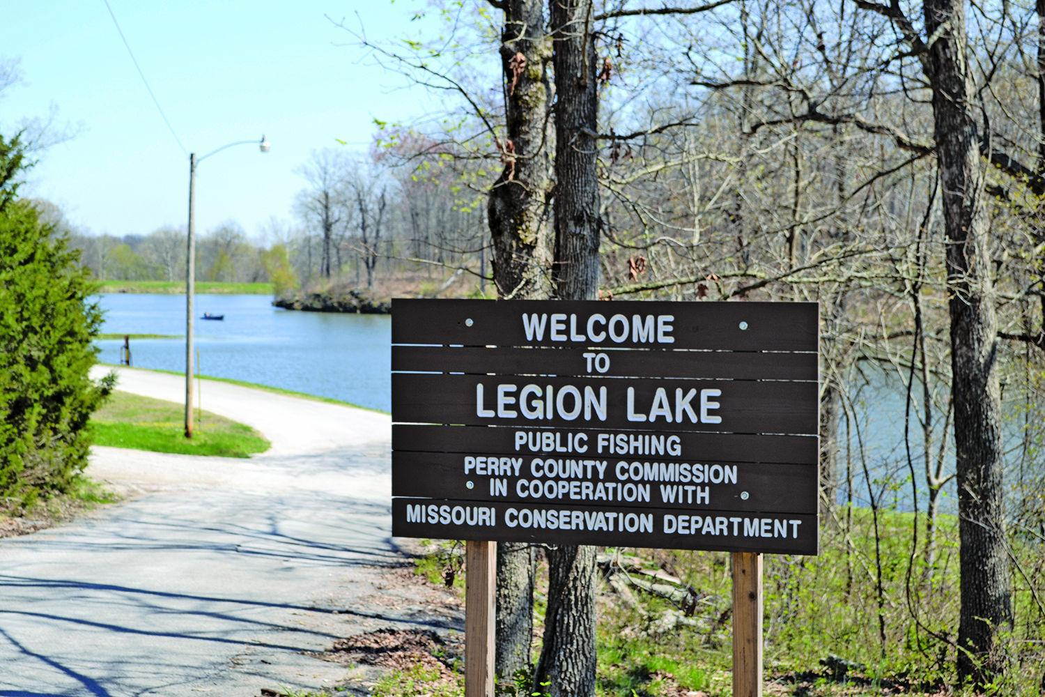 Legion Lake sign